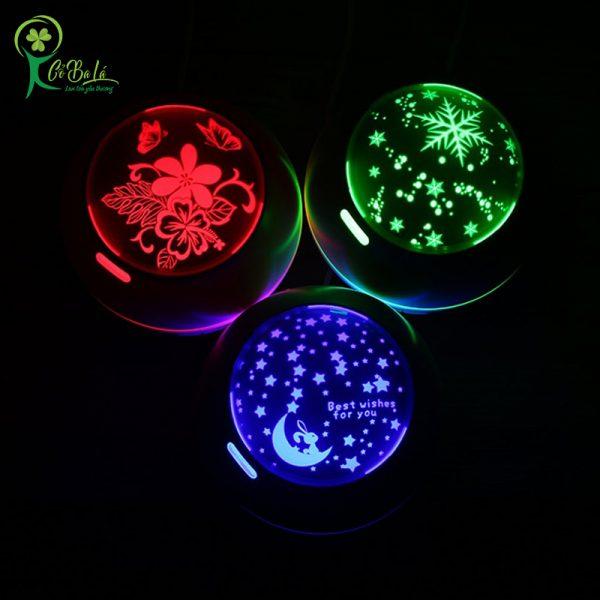 Đèn led 7 màu đa sắc tùy chỉnh có thể dùng thay cho đèn ngủ